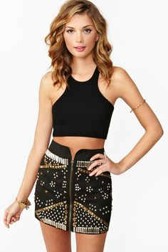 Combat Studded Skirt I like the skirt not the top