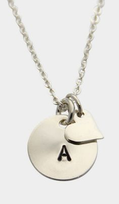 Personalized Heart Initial Necklace A for AMANDA!!!!
