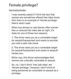 "A ""privilege"" that stems from your oppression is not a privilege at all."