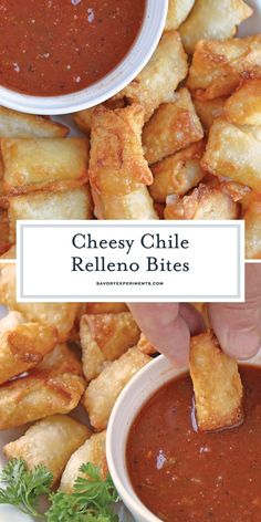 Chile Relleno Bites are a quick hack for making bite sized chile rellenos as an . Chile Relleno Bites are a quick hack for making bite sized chile rellenos as an appetizer. Make ahead until you are ready to serve! Mexican Appetizers, Make Ahead Appetizers, Thanksgiving Appetizers, Appetizers For Party, Appetizer Recipes, Mexican Food Recipes, One Bite Appetizers, Simple Appetizers, Wonton Recipes