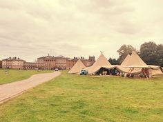 A breath-taking backdrop for our autumn open weekend at #kedlestonhall  #tipis #teepees #tipiwedding #teepeewedding #midlands #tipihire #derbyshire #marquee #peaktipis #outdoorwedding #autumn #weddingevent