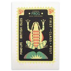 Serigrafía de edición limitada Large Frog Stamp de Tom Frost en www.achica.es
