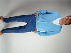 Vintage Mens Pants,  Men's Cat Pants, Embroidered Cat Pants, Cotton Pants, Cat Lovers Pant, Preppy Pants, 70's Pants, by BuffaloGalVintage on Etsy
