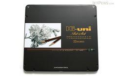 Uni Mitsubishi Hi-Uni Pencil Art Set - 10B to 10H - Box of 22 - UNI HUAS