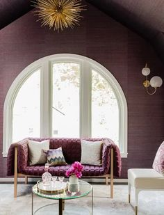 Not a fan of Lila? These 7 colors could change your mind - Best Home Designs Dark Furniture, Accent Furniture, Living Room New York, E Room, Touch Of Gray, Transitional Living Rooms, Wood Bedroom, Shades Of White, Cool House Designs
