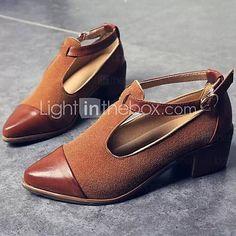 Women's Heels Spring Summer Fall Comfort PU Casual Chunky Heel Buckle Black Brown Others 5312827 2017 – £25.51