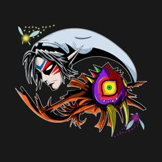 Shop Majora's Mask Ying Yang zelda t-shirts designed by valentinovitela as well as other zelda merchandise at TeePublic. Legend, Zelda Tattoo, Horror Kids, Ying Yang, Link Art, Video Game Art, Badass Tattoos, Princess Tattoo, Hero