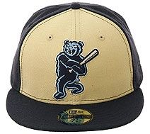 The Clink Room Mobile Baybears Alternate Fitted Hat - Stone, Navy, Light Blue