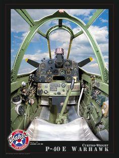 P-40E Warkawk Cockpit Poster