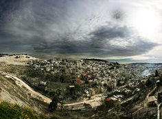 Kidron Valley in Jerusalem! between the Temple Mount and Mount of Olives!