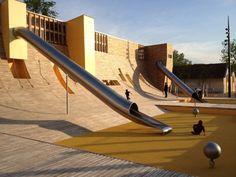 aires de jeu au parc blandan lyon france urbain parcs et terrains de jeux. Black Bedroom Furniture Sets. Home Design Ideas