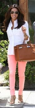 As Seen on Eva Longoria: https://www.hotmiamistyles.com/Light_Salmon_Rhinestone_Accent_Skinny_Jeans_p/201-7%20salmon.htm#