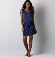 loft tie shoulder drop waist dress $39.50