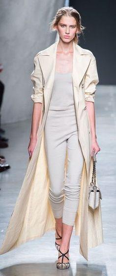 Vision in white at the Bottega Veneta Spring/Summer 2015 show. More fashion here: http://balharbourshops.com/fashion/