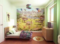 W Dinoland Walltastic Dinosaur Land Wallpaper Mural
