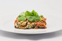 Aubergine Rolls with Spinach and Ricotta