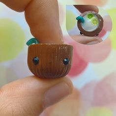 Coconut drink- I made a tutorial on my YouTube for the #teapartycollab Has anyone tried coconut milk? I've had some and it wasn't my favorite... #kawaii #cute #polymerclay #polymerclaycharms #crafts