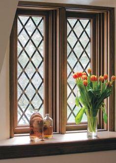 Diamond pane windows! Old World chic