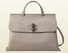 5ccd611a83b133 Bamboo daily leather top handle bag by Gucci. Adjustable and detachable  shoulder strap;