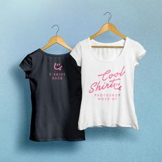 Woman T-Shirt MockUp PSD | GraphicBurger
