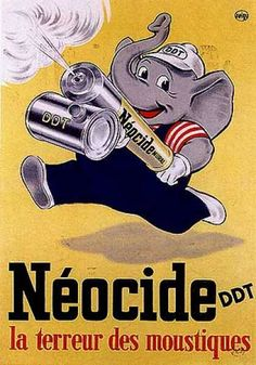 Other than a fly swatter the fly sprayer was the only way to get rid of those pesky blighters. Neocide (1950)