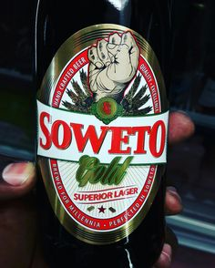 Soweto Gold Lager. Craft beer from South Africa.