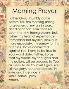 Sunday Morning Prayer, Powerful Morning Prayer, Morning Prayer Quotes, Morning Blessings, Morning Prayers, Good Morning Quotes, Thursday Morning, Prayer Scriptures, Bible Prayers