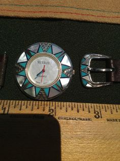 Surrisi turquoise 925 Silver  Women's  Watch southwestern new mexico Corrales