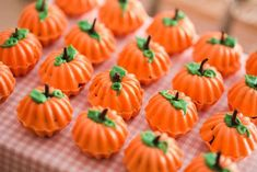 Pumpkin Chocolates from a Girly Little Farm Birthday Party via Kara's Party Ideas | KarasPartyIdeas.com (29)