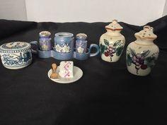 Lot of 6 Salt and Pepper Shakers Vintage Assorted Japan , Blue , Ceramic  | eBay