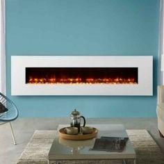 Gazco Radiance Steel 190W Electric Wall Mounted Fire Ivory