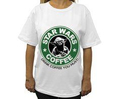 Yoda Starcucks T-Shirt / Camiseta Yoda Starbucks