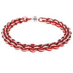 e4ffbbd850879 Retired - Candy Cane Chain Maille Bracelet