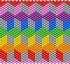 3D BLOCK PATTERN Kandi Pattern