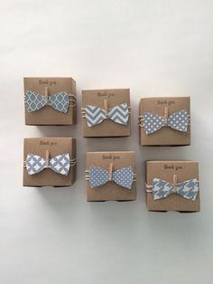 50 3x3x2 inch favor boxes for your next Little Man baby shower with bow ties in grey and white patterns. Boxes measure 3x3x2 inch and are made of