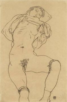 Egon Schiele - Reclining Woman (1917) - Google Search