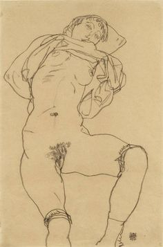 Egon Schiele - Reclining Woman (1917) - Google Search