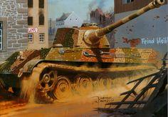 "Рисунок PzKpfw VIB ""Королевский тигр"" на рабочий стол | Бронетехника War Wallpapers"