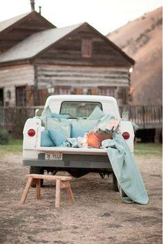 Picnic in a truck