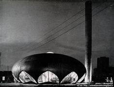 Alfortville - Chaufferie rue Etienne Dolet.  Architectes: Pierre Raymond et Jacques Robert  Construction: 1966