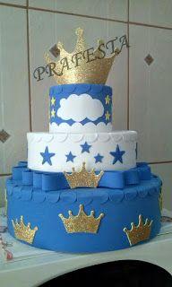 PRAFESTA artesanato: Esse bolo é do tema Principe Artur, feito todo em... Cupcake Cakes, Cupcakes, Royal Prince, Baby Showers, Party, Desserts, Blog, Conch Fritters, Prince Party