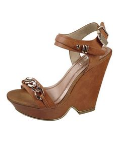Look what I found on #zulily! Brown & Gold Embellished Wedge Sandal by Air Balance #zulilyfinds