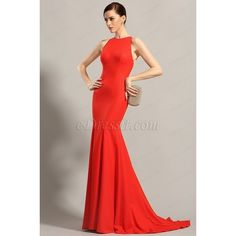 eDressit Sleeveless Red Formal Dress Evening Gown (00155202) ($150) ❤ liked on Polyvore featuring dresses, gowns, formal gowns, red evening gowns, red sleeveless dress, red ball gown and red formal dresses