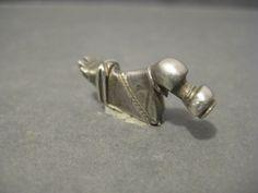 Celtic La Tène silver duck augmented beak RARE - 26 mm