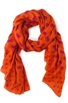 Stella   Dot Bryant Park Scarf - Poppy Love the color and the fun elephant  print, plus there s a little video on 10 ways to wear a scarf Via  design sponge d57ce63eed0