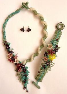 Crochet Necklace, Beaded Necklace, Beadwork, Spiral, Appreciation, Beads, Jewelry, Design, Beaded Collar