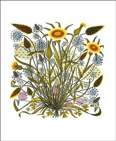 Goat's Beard and Grasses by Angie Lewin