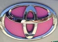 Pink Toyota Emblem