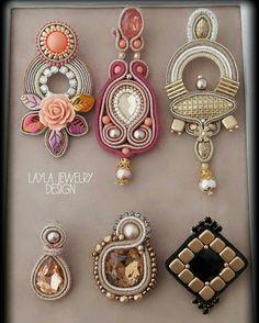 Big earrings Blue earrings Handmade jewelry for woman Rose quartz earrings Long earrings for woman Embroidered earrings Present for friend - Custom Jewelry Ideas Beaded Jewelry Patterns, Fabric Jewelry, Soutache Earrings, Women's Earrings, Earrings Handmade, Handmade Jewelry, Necklace Designs, Custom Jewelry, Jewelery