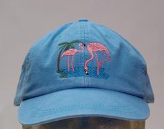 FLAMINGO BIRD HAT  One Embroidered Wildlife Cap  by priceapparel, $17.95